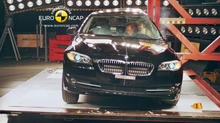 Nye BMW 5-serie gikk helt til topps i sin klasse. (Foto: Euro NCAP)
