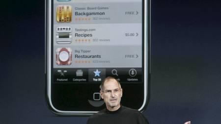 TULLETELEFON? ¿ Hadde det vært Steve Jobs selv som ringte hadde jeg difinitivt trodd at det var en spøk, sier Gail Davis. (Foto: Paul Sakuma/AP)