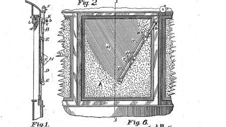 Utsnitt fra patentbrevet fra november 1903, der Mary Anderson fikk rettighetene til vindusviskerdesignet som dagens mekanismer bygger på.