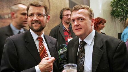 Helge   Sander og Lars Løkke Rasmussen (Foto: Scanpix)