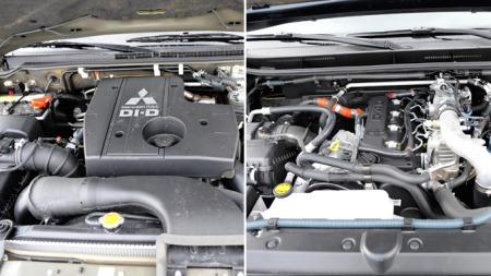 Mitsubishi Pajero kommer med markedets største firesylindrede   motor på 3,2 liter. Toyota Land Cruiser ligger like bak mer firer på   3 liter. Foto: Egill J. Danielsen