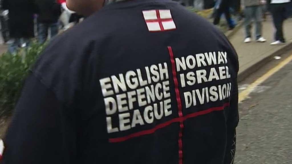 Norwegian Defence League har fått beskjed fra moderorganisasjonen English Defence League om at samarbeidet er brutt. (Foto: TV 2)