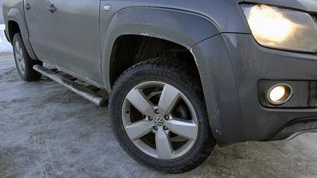 19-tommere høres ikke praktisk ut på en pickup, men etter veien fungerte den gromme utrustningen overraskende bra selv på dårlig vintervei. (Foto: Tore Robert Klerud)