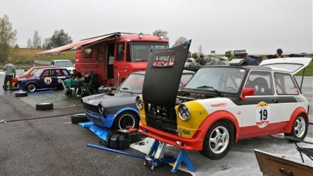 Autobianchi A112 er en morsom løpsbil og det er stor entusiasme rundet løpserien Corsa Italiana. Foto: Privat (Foto:                )