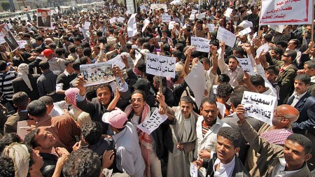 yemen demonstrasjon (Foto: AFP)