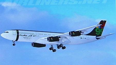 GADDAFIS FLY: Muhammer Gaddafi disponerer et av flyene til Afriqiyah Airways, som sitt private fly. (Foto: Airliners.net)