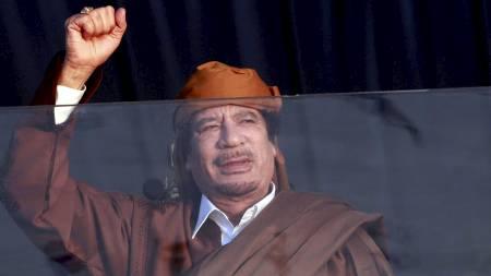 FORHATT: Muhammar Gaddafi har sittet som diktator i Libya siden kuppet i 1969. Han dager som eneherkser kan nærme seg slutten etter opprørene den siste tiden.  (Foto: STR/Reuters)