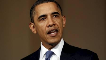 - RYSTET: President Barack Obama uttalte seg om situasjonen i Libye fra Det hvite hus onsdag. (Foto: KEVIN LAMARQUE/Reuters)