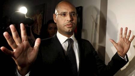 UTEN RÅDGIVER: Muhammar Gaddafis sønn, Saif Al-Islam   Gaddaf, står uten rådgiver etter at.. (Foto: SERGEI KARPUKHIN/Reuters)