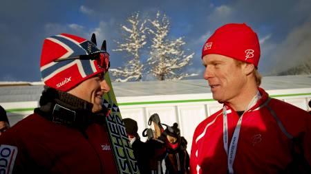 Petter Northug og Bjørn Dæhlie (Foto: Lien, Kyrre/SCANPIX)