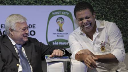 Ricardo   Teixeira, Ronaldo (Foto: MAURICIO LIMA/Afp)