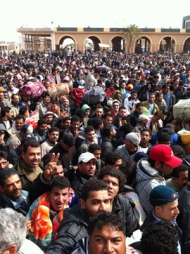 grensen libya tunisia (Foto: Bent Skjærstad)