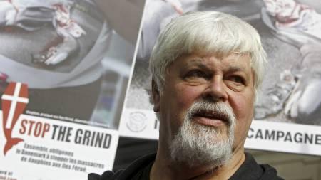 LETER: Hvalfangst-motstander og president i Sea Shepherd, Paul Watson, deltar i søket etter  «Berserk». Arkivfoto. (Foto: LAURENT CIPRIANI/Ap)