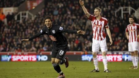 Carlos Vela reddet ett poeng mot Stoke sist. (Foto: JON SUPER/Ap)