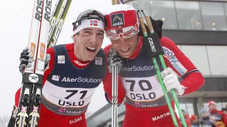 Eldar Rønning og Martin Johnsrud Sundby (Foto: Poppe, Cornelius/Scanpix)