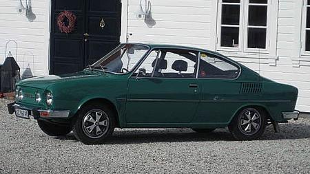 Terje fant sin sjeldne Skoda i Sverige. Så vidt han vet er den i dag Norges eneste registrerte coupé. Foto: Privat