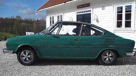 Det var fartsfylte linjer på Skodas coupé-modeller på 70-tallet. Foto: Privat