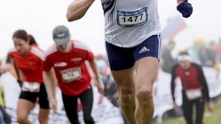 MOT NYE HØYDER: Christian Prestegård er Norges fremste motbakkeentusiast. I tillegg til å delta aktivt selv er han også arrangør for noen av de fremste løpene i landet. (Foto: Privat/)