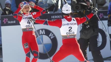 Theres Johaug og Marit Bjørgen (Foto: Lien, Kyrre/Scanpix)