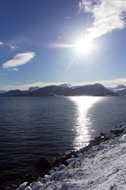 Torsdag formiddag er det nydelig vær i Tresfjorden i Møre og Romsdal. (Foto: Per Christian Dyrø)