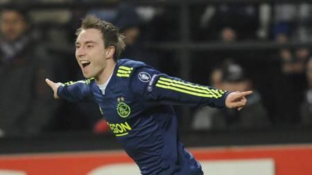 DANSK STJERNESKUDD: Ajax' Christian Eriksen. (Foto: JOHN THYS/Afp)