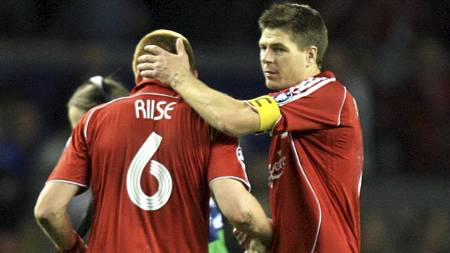 Steven   Gerrard, John Arne Riise (Foto: John Walton/Pa Photos)