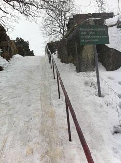 Ser du trappetrinnene? (Foto: Tønsbergs Blad)