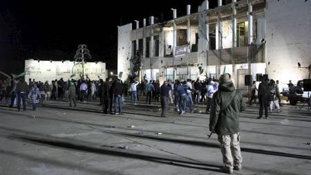 Gaddafis residens (Foto: IMED LAMLOUM/Afp)