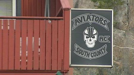MANDAL-KLUBB: MC-klubben Outlaws holder til i Mandal. (Foto: TV 2)