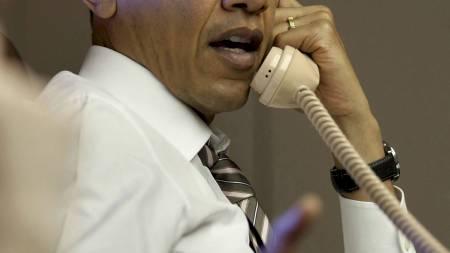GIR FRA SEG ANSVARET: President Barack Obama vil gi fra seg ledelsen av Libya-aksjonen innen få dager. (Foto: HO/Reuters)