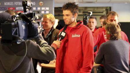 Rune Almenning Jarstein slåss med Espen Bugge Pettersen om keeperplassen mot Danmark. (Foto: Frode Olsen/)