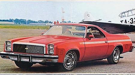 1977 Chevrolet El Camino SS - en usannsynlig kombinasjon av diger familiebil og pickup, med særpreget og overraskende vellykket design. Noe å gjenskape på Insignia-plattformen?