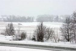 Onsdag er det full vinter igjen i Trondheim. (Foto: Kurt Ellemyr)