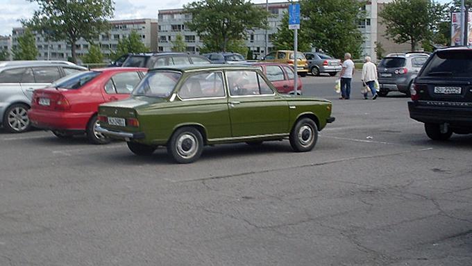 Man trenger slett ikke Range Rover for å vekke oppsikt på parkeringsplassen. (Foto: Privat)