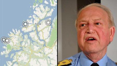 MÅ EVAKUERE: Politimester Truls Fyhn sier at skredfaren fører til at politiet oppfordrer til evakuering av innbyggere fra skredutsatte boliger i Troms. (Foto: Montasje)