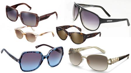 HVA FORETREKKER DU: Nederst f.v. Glamourøst fra Dolce & Gabbana (kr 2100), klassisk og elegant med dekorert stang fra Rodenstock (2.linje) jordfarger fra Persol (kr 2040), spraglete cateyes fra Ray Ban (kr 1800), (3. linje) klassiske jordfarger og firkantet ramme fra Burberry (kr 1920) og 80-tallsinspirerte, enkle briller fra Pilgrim (kr 599).