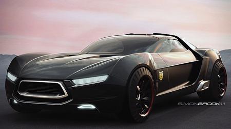 Det andre designforslaget er signert Simon Brook, og har etter vår mening noe udefinerbart Smart Roadster-aktig over seg. Foto: Netcarshow.com