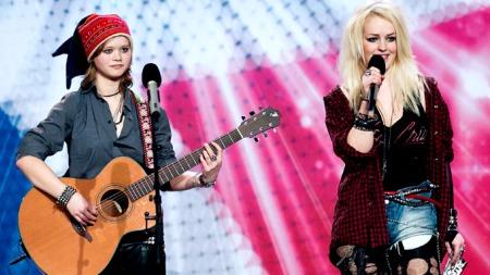 Same og Nana i «Norske Talenter» (Foto: Thomas Reisæter/TV 2)