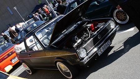 Bilen vekker berettiget oppsikt på utstillinger og treff. Foto: Privat