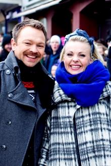 John Brungot og Marte Sveberg Bjørstad er programledere for «Norske Talenter». (Foto: Thomas Reisæter)