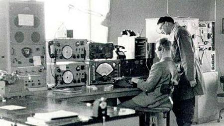 Isfjord radiostasjon på Svalbard.