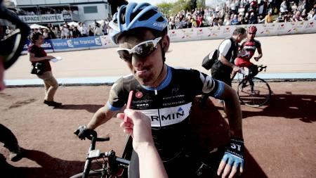 Gabriel Rasch sliter med sykdom. Her etter målgang i Paris - Roubaix i april. (Foto: Solum, Stian Lysberg/SCANPIX)