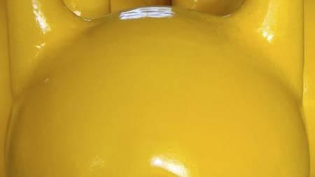 EKSEMPEL på 16-kilos kettlebellskule. (Foto: Privat/)