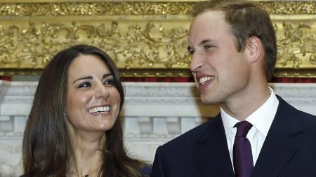 FREKK HUMOR: William skal ha falt for Kates frekke humor. (Foto: Kirsty Wigglesworth/Ap)