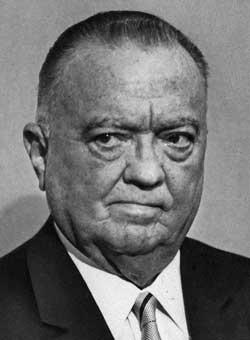 MOTTOK UFO-RAPPORTER: John Edgar Hoover var FBIs mektige sjef   fra 1935 til sin død i 1972. (Foto: Ap)