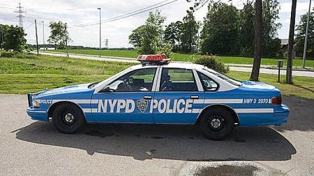 Capricen var en stor og tung bil, men med Police-pakken ble den rimelig stiv og fin å kjøre. Ikke minst denne, som har gått i Highway Patrol. Foto: Privat