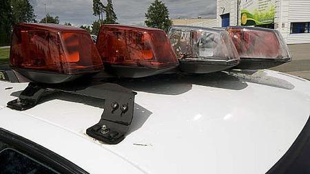 Det er aldri noen mangel på signallys på en amerikansk politibil. Her er alt på plass, og alt virker. Foto: Privat