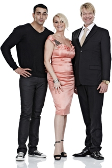 «Norske Talenter»-dommerne Adil Khan, Mia Gundersen og Alex Rosén.