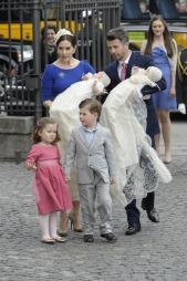 Kronprins Frederik og kronprinsesse Mary med barna Christian og Isabella. (Foto: Stefan Lindblom, ©ep)