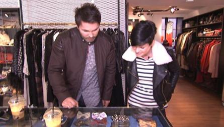 VINTAGE: Lene Nystrøm viser Jan Thomas sine favorittbutikker i København.